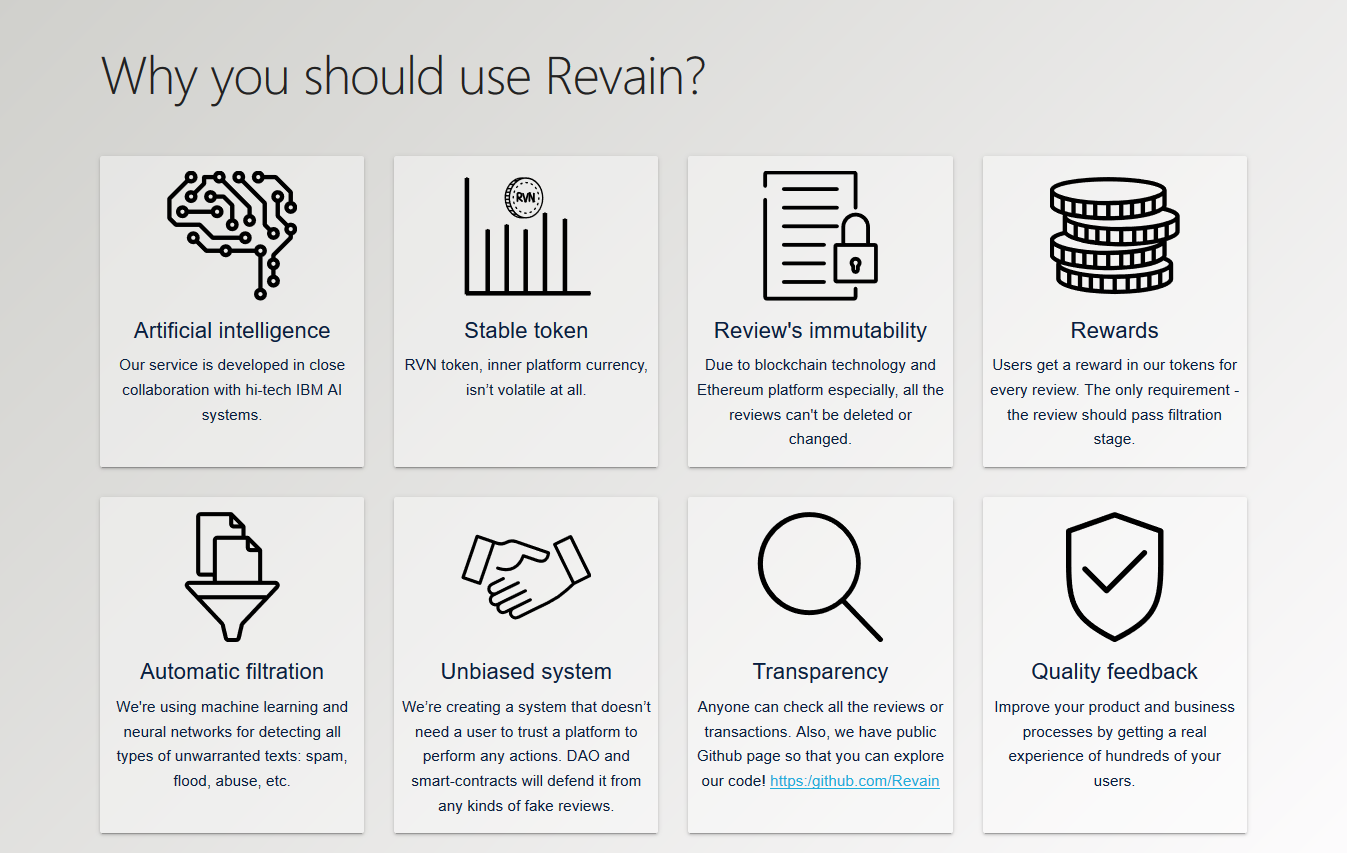Revain features