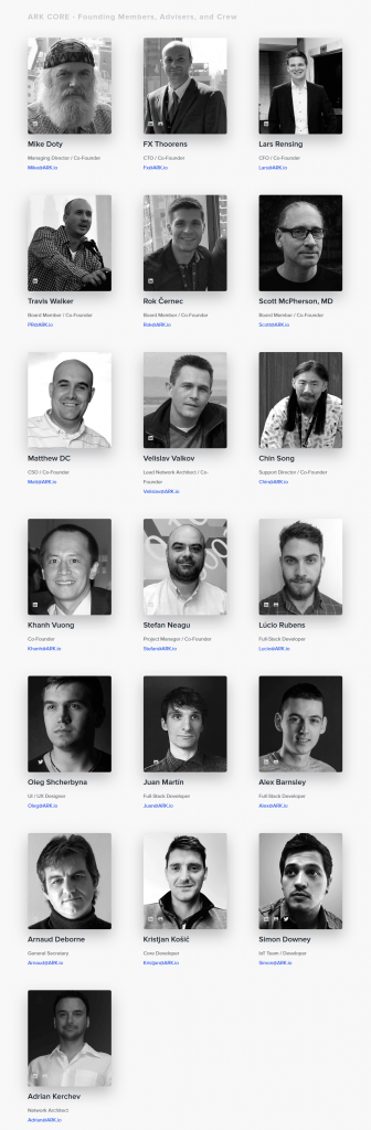 Ark (ARK) core team