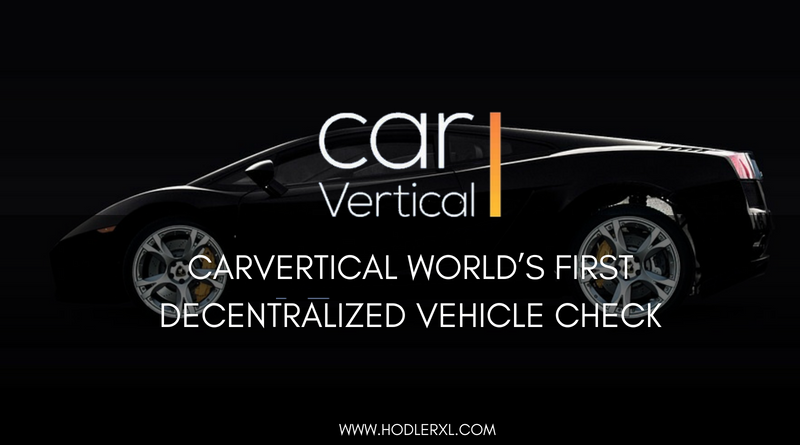 CarVertical World's First Decentralized Vehicle Check