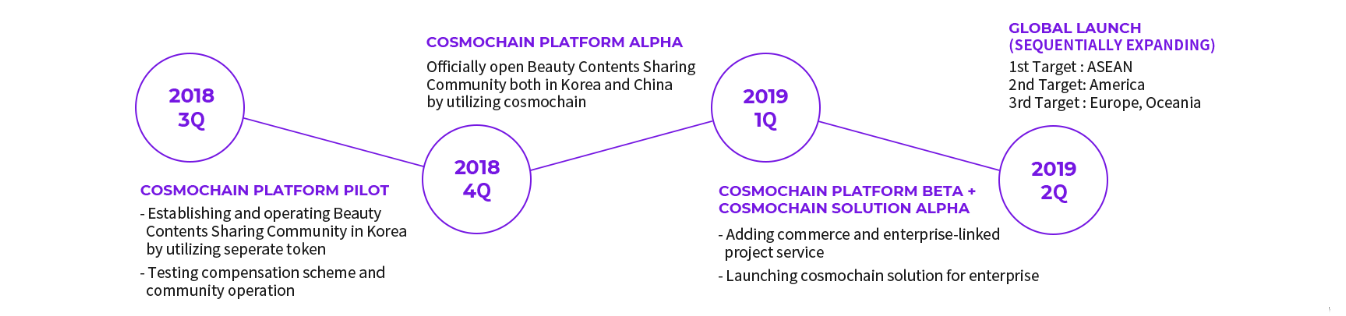 Cosmochain Roadmap